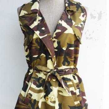 Cool Military Girl Tunic Shirt No.2 Free Size