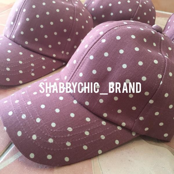 Polka Dot Women Cap Purple hats