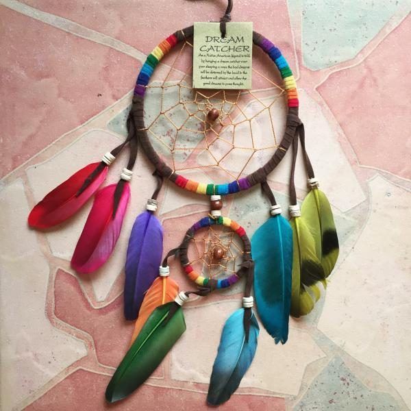 Dreamcatcher Rainbow Home Decor Wall Decal Hanging Boho Bohemian Hippie Style